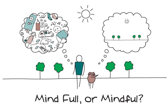 Mindfulness or Being Present: A technique to alleviate prolonged anxiety.